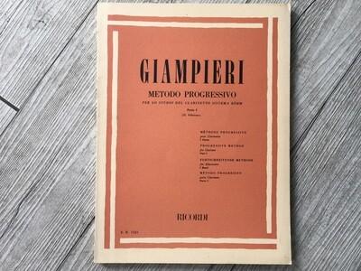 GIAMPIERI - Metodo progressivo per clarinetto Vol. 1