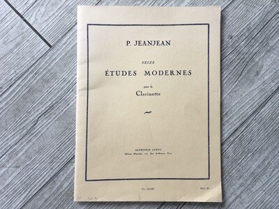 P. JEANJEAN - Seize études modernes per clarinetto