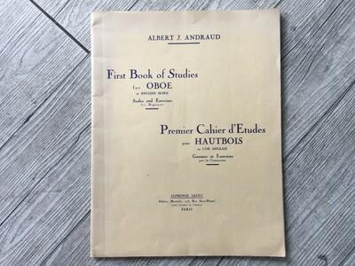 ALBERT J. ANDRAUD - First book of studies per oboe