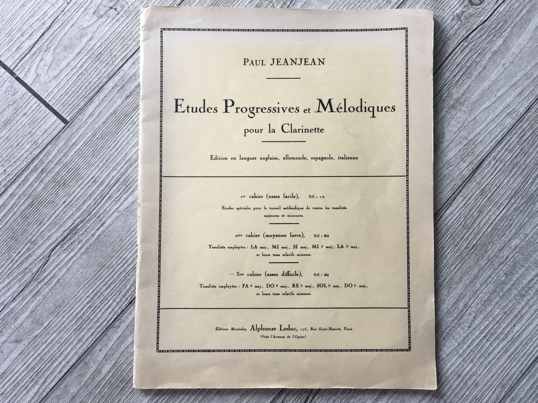 PAUL JEANJEAN - Etudes progressives et melodiques per clarinetto Vol. 3