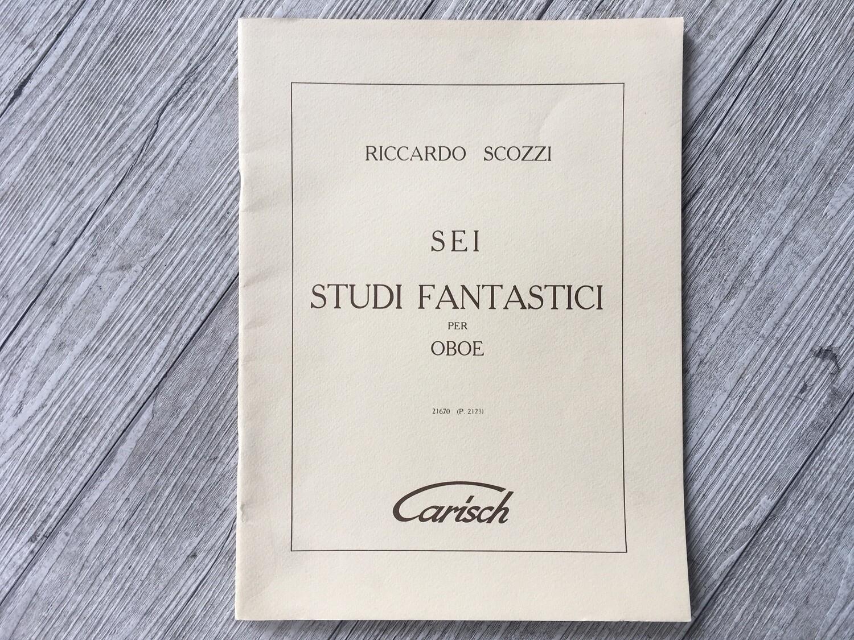 RICCARDO SCOZZI - Sei studi fantastici per oboe