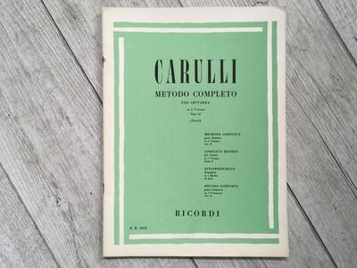 CARULLI - Metodo completo per chitarra Vol. 2