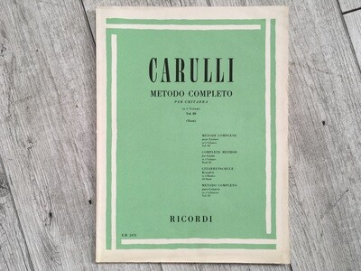 CARULLI - Metodo completo per chitarra Vol. 3