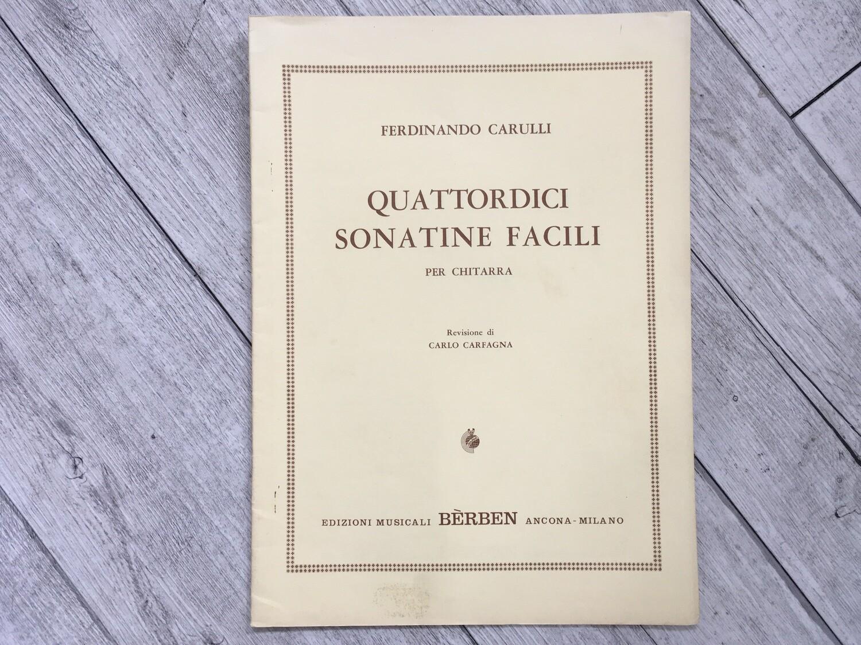 FERDINANDO CARULLI - 14 sonatine facili per chitarra