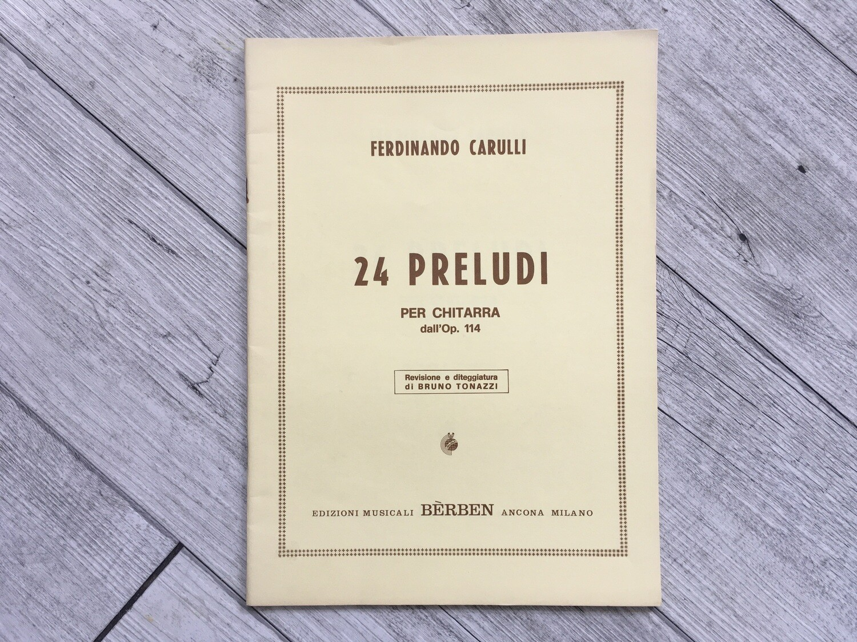 FERDINANDO CARULLI - 24 preludi per chitarra Op. 114