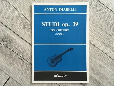 ANTONIO DIABELLI - Studi per chitarra Op. 39