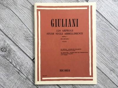 GIULIANI - 120 arpeggi studi sugli abbellimenti per chitarra Op. 1