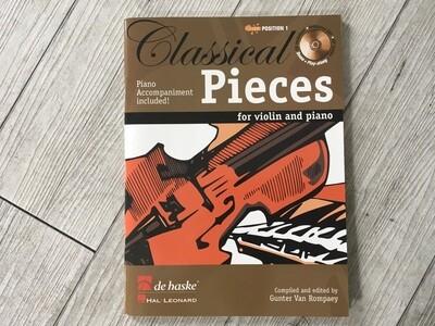 GUNTER VAN ROMPAEY - Classical pieces for violino e piano Vol. 1