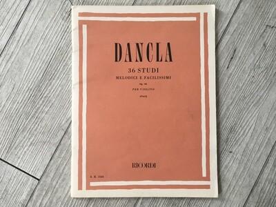 DANCLA - 36 studi melodici e facilissimi per violino Op. 84