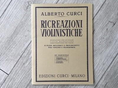 ALBERTO CURCI - Ricreazioni violinistiche Vol. 3