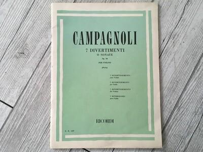 CAMPAGNOLI - 7 divertimenti o sonate per violino Op. 18
