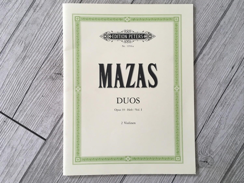 MAZAS - Duos per 2 violini Op. 39 Vol. 1