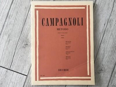 CAMPAGNOLI - Metodo per violino Vol. 1