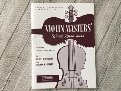 VIOLIN MASTER - Duet repertorie