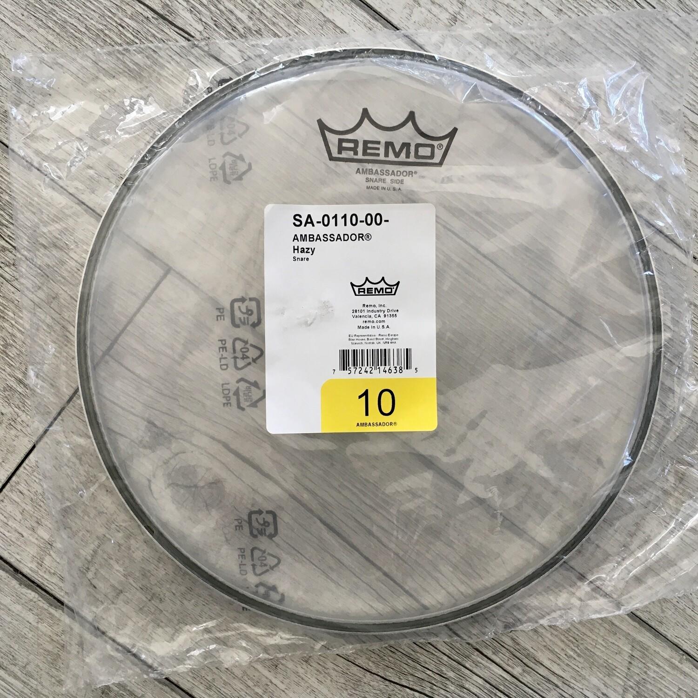 "REMO SA011000 - Ambassador Hazy Snare 10"""