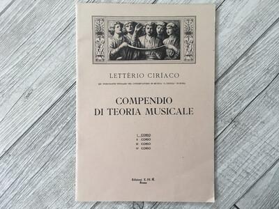 LETTERIO CIRIACO - Compendio Di Teoria Musicale Vol. 1