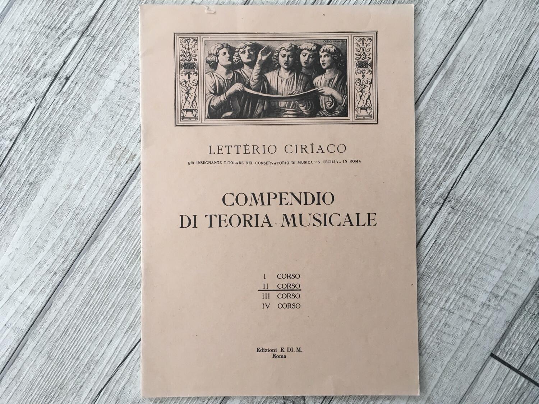 LETTERIO CIRIACO - Compendio Di Teoria Musicale Vol. 2
