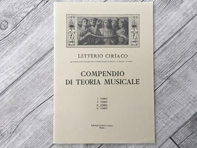 LETTERIO CIRIACO - Compendio Di Teoria Musicale Vol. 3