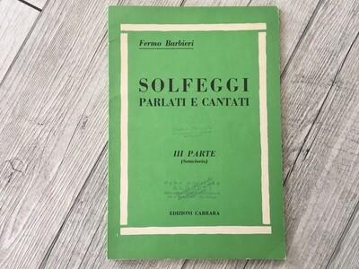 FERMO BARBIERI - Solfeggi parlati e cantati Vol. 3