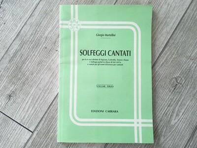 GIORGIO MARTINELLI - Solfeggi cantati Vol. 3