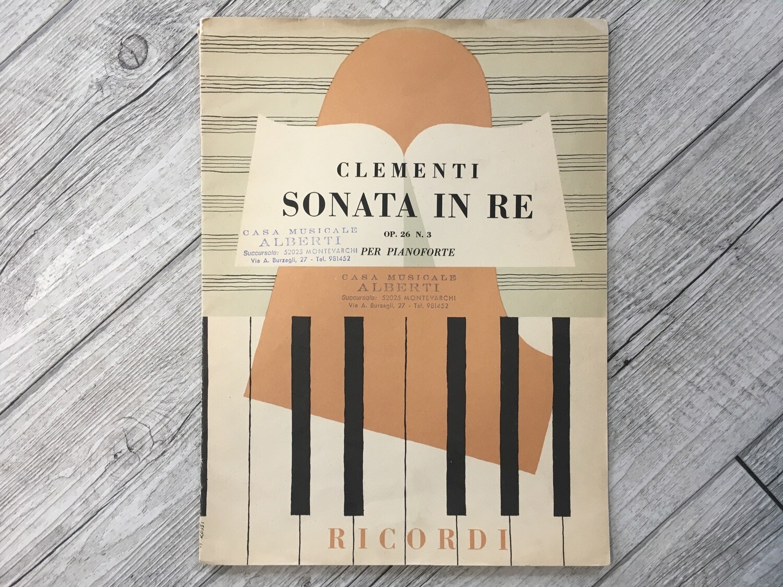 CLEMENTI - Sonata in RE per pianoforte Op. 26 N. 3