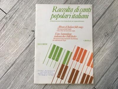 ALDO ROSSI - Raccolta di canti popolari italiani