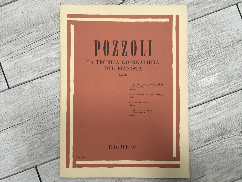 POZZOLI - La tecnica giornaliera del pianista Vol. 3