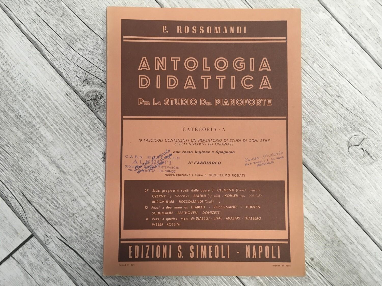E. ROSSOMANDI - Antologia didattica per lo studio del pianoforte Vol. 2