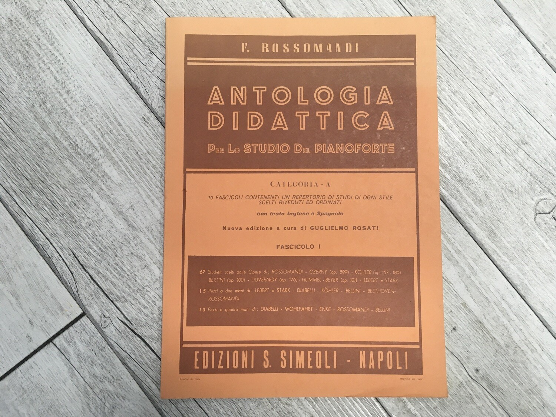 E. ROSSOMANDI - Antologia didattica per lo studio del pianoforte Vol. 1