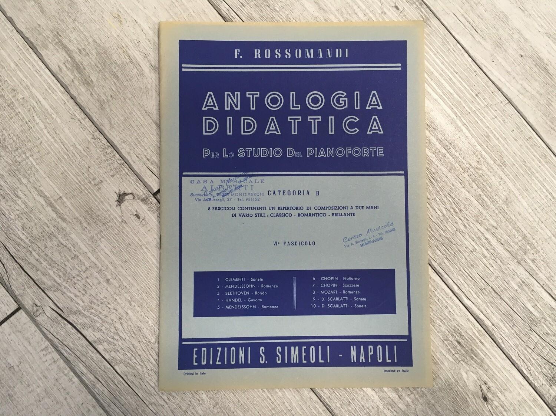 F. ROSSOMANDI - Antologia didattica per lo studio del pianoforte Categoria B Vol. 6