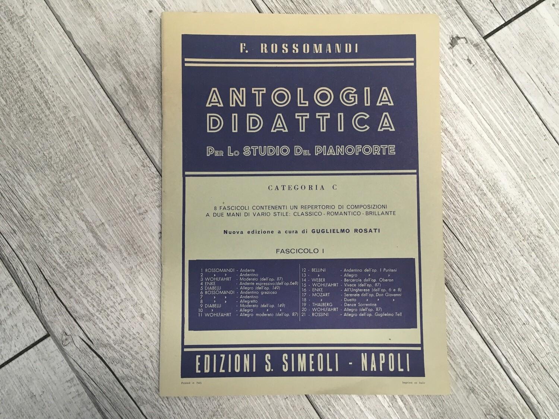 F. ROSSOMANDI - Antologia didattica per lo studio del pianoforte Categoria C Vol. 1