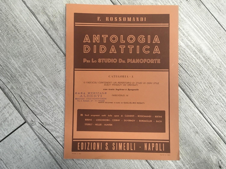 F. ROSSOMANDI - Antologia didattica per lo studio del pianoforte Categoria A Vol. 4