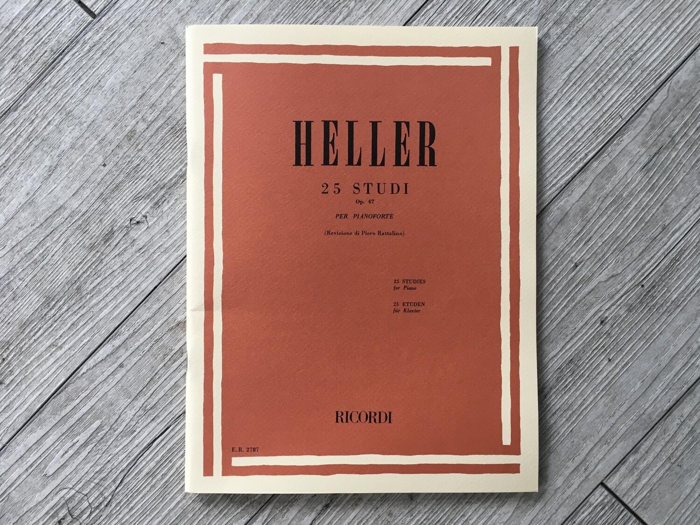 HELLER - 25 studi per pianoforte Op. 47