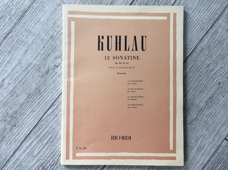 KUHLAU - 12 sonatine per pianoforte Op. 20, 55, 59