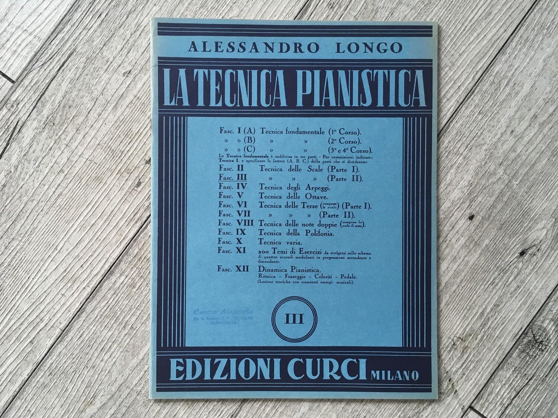 ALESSANDRO LONGO - La tecnica pianistica Vol. 3