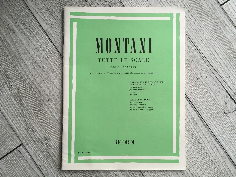 MONTANI - Tutte le scale per pianoforte