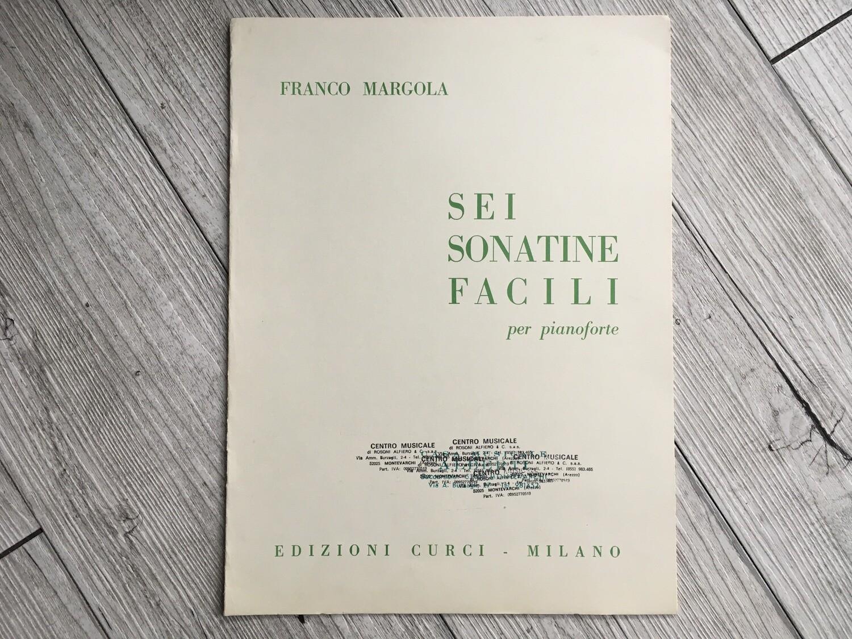 FRANCO MARGOLA - Sei sonatine facili Per pianoforte