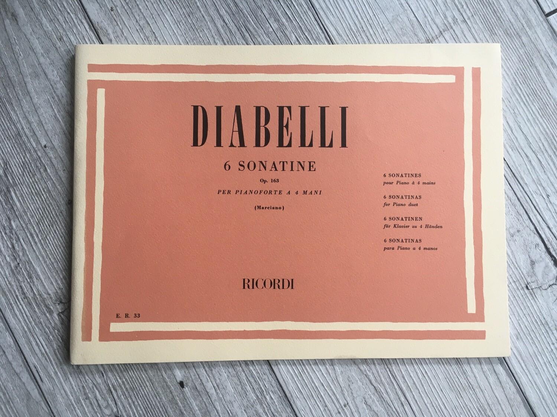 DIABELLI - 6 sonatine per pianoforte a 4 mani Op. 163
