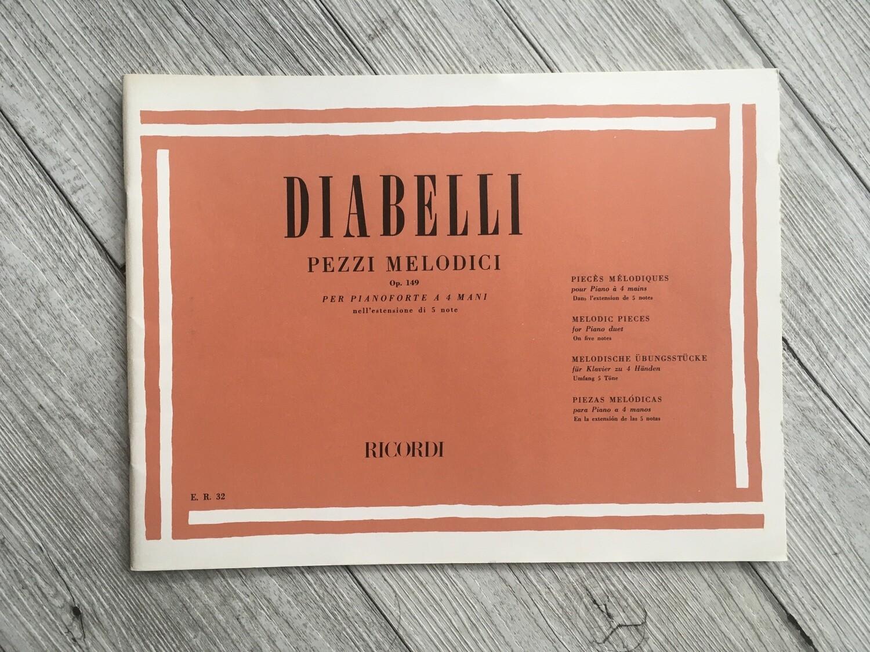 DIABELLI - Pezzi melodici per pianoforte a 4 mani Op. 149