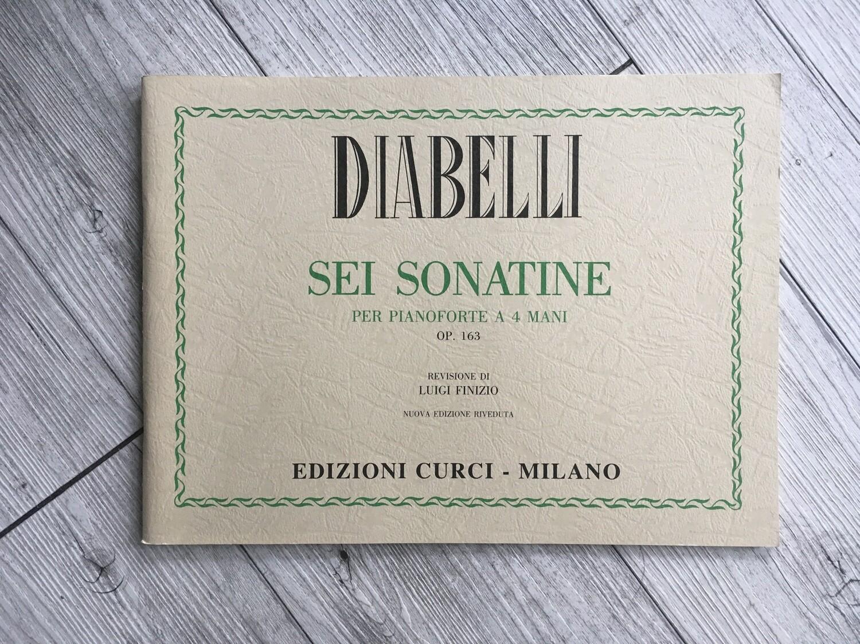 DIABELLI - 6 sonatine per pianoforte a 4 mani Op. 163 (revisione di Luigi Finizio)