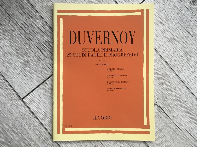 DUVERNOY - Scuola primaria 25 studi facili e progressivi per pianoforte Op. 176