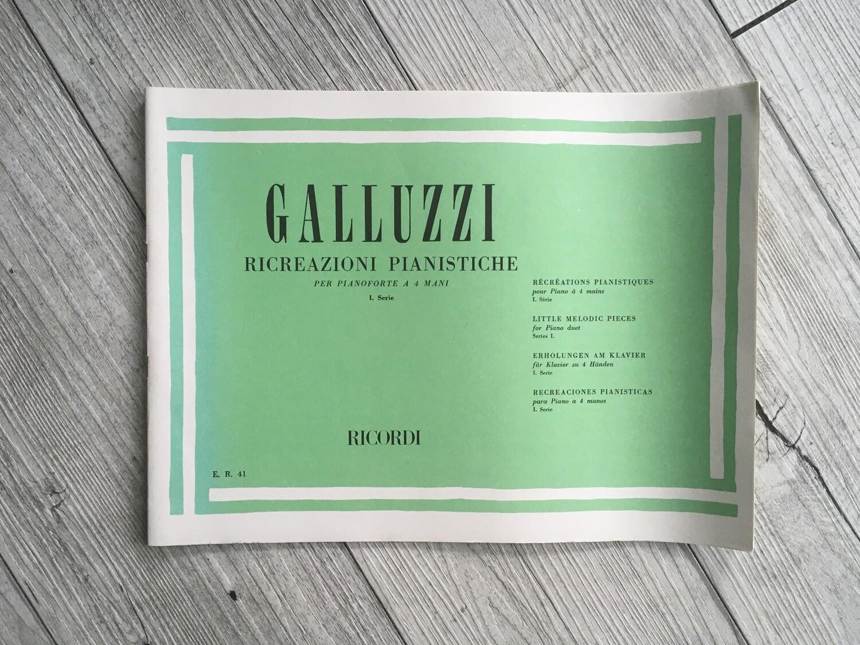 GALLUZZI - Ricreazioni pianistiche per pianoforte a 4 mani Vol. 1