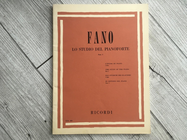 FANO - Lo studio del pianoforte Vol. 1