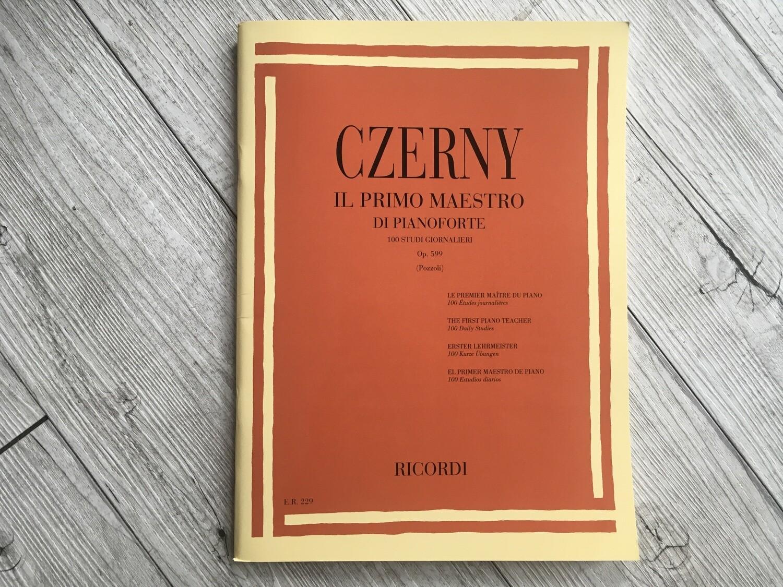 CZERNY - Il primo maestro di pianoforte 100 studi giornalieri Op. 599