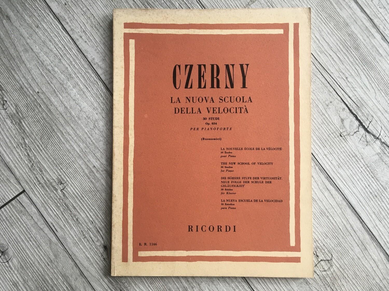 CZERNY - La nuova scuola della velocità 30 studi per pianoforte Op. 834