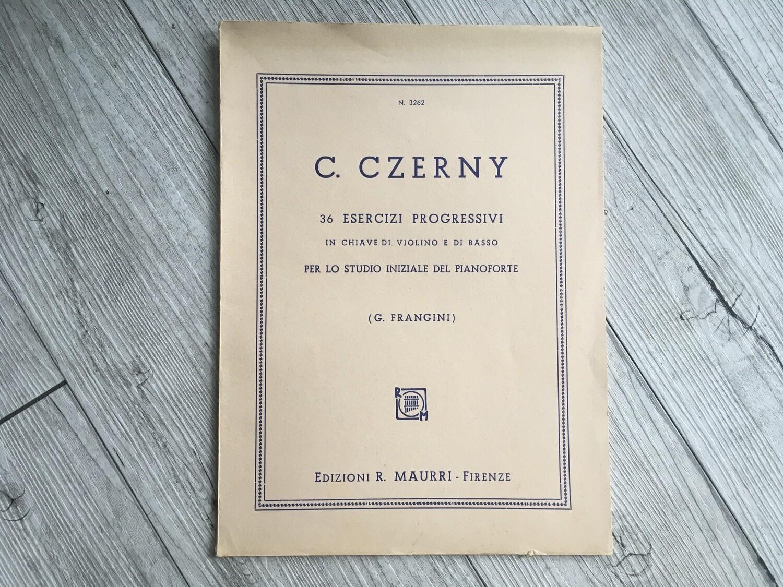 C. CZERNY - 36 esercizi progressivi per lo studio iniziale del pianoforte