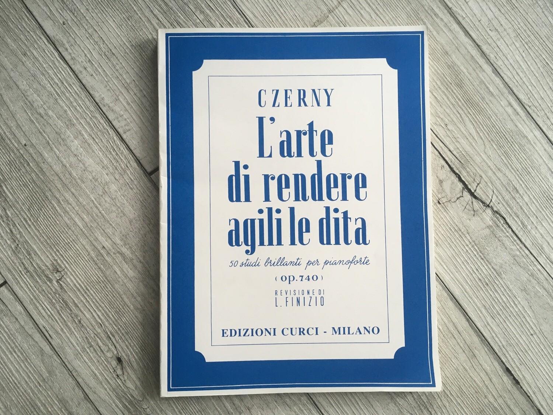 CZERNY - L'arte di rendere agile le dita 50 studi brillanti per pianoforte Op. 740