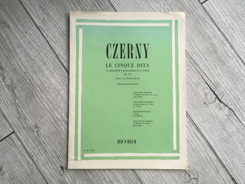 CZERNY - Le cinque dita 24 melodie facilissime su 5 note per pianoforte Op. 777