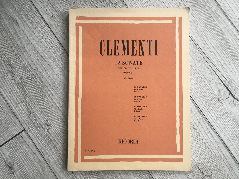 CLEMENTI - 12 sonate per pianoforte Vol. 2
