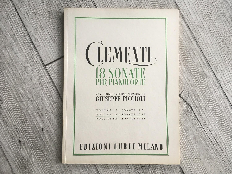 CLEMENTI - 18 sonate per pianoforte